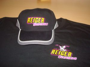Cap Reiger suspension geel paars logo