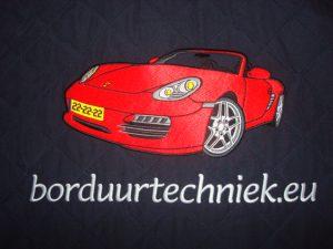 Ruglogo van rode auto