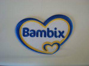 Blauw geel Bambix logo
