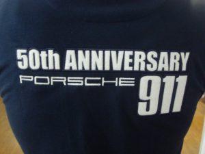 Wit ruglogo van Porsche