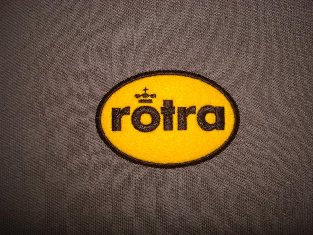 Ovaal geel Rotra logo