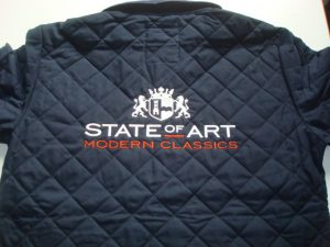 State of art logo op rugformaat