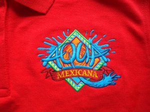 Splash logo van Aqua Mexicana